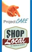 Project CARE and Shop Local Logos
