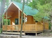 Camping cabins and tent camping sites are available for rental at Klondike Park in Augusta.