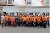 Webster Works Worldwide group assists with volunteer project at Boone Home.