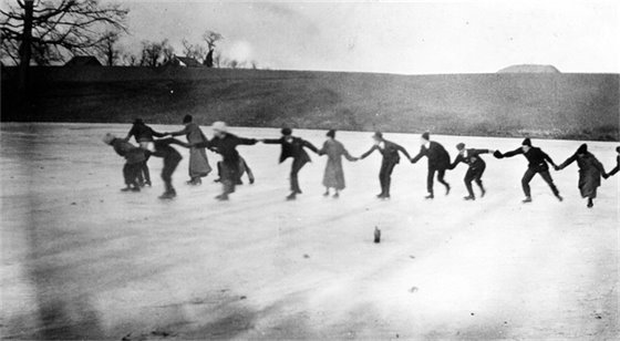 Ice Skating in Rural St. Charles County 1909
