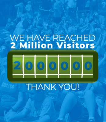 Thanks for helping us reach more than 2 million visitors in St. Charles County Parks!