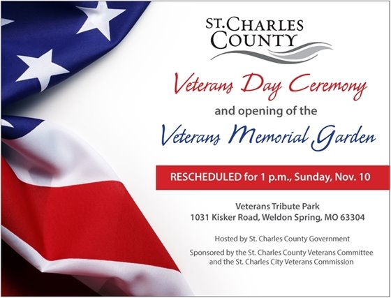 A Veterans Day Ceremony at Veterans Tribute Park on Nov. 10 is open to the public.