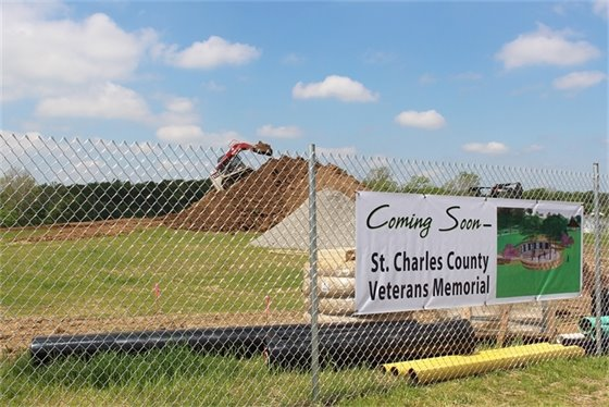 Veterans Memorial Construction at Veterans Tribute Park