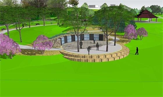 Rendering of Veterans Memorial Garden