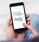 QLess App on Cell Phone