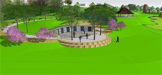 A memorial garden honoring veterans is being built at Veterans Tribute Park.