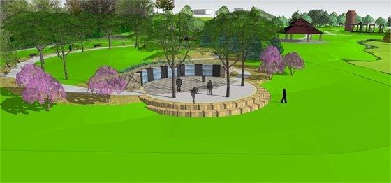 A memorial garden honoring veterans is being built at Veterans Tribute Park.