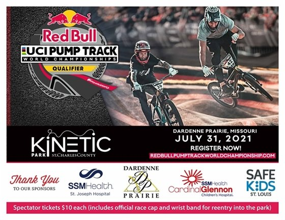 Spectator and race tickets are available for the Red Bull UCI Pump Track World Championships Qualifier at Kinetic Park!