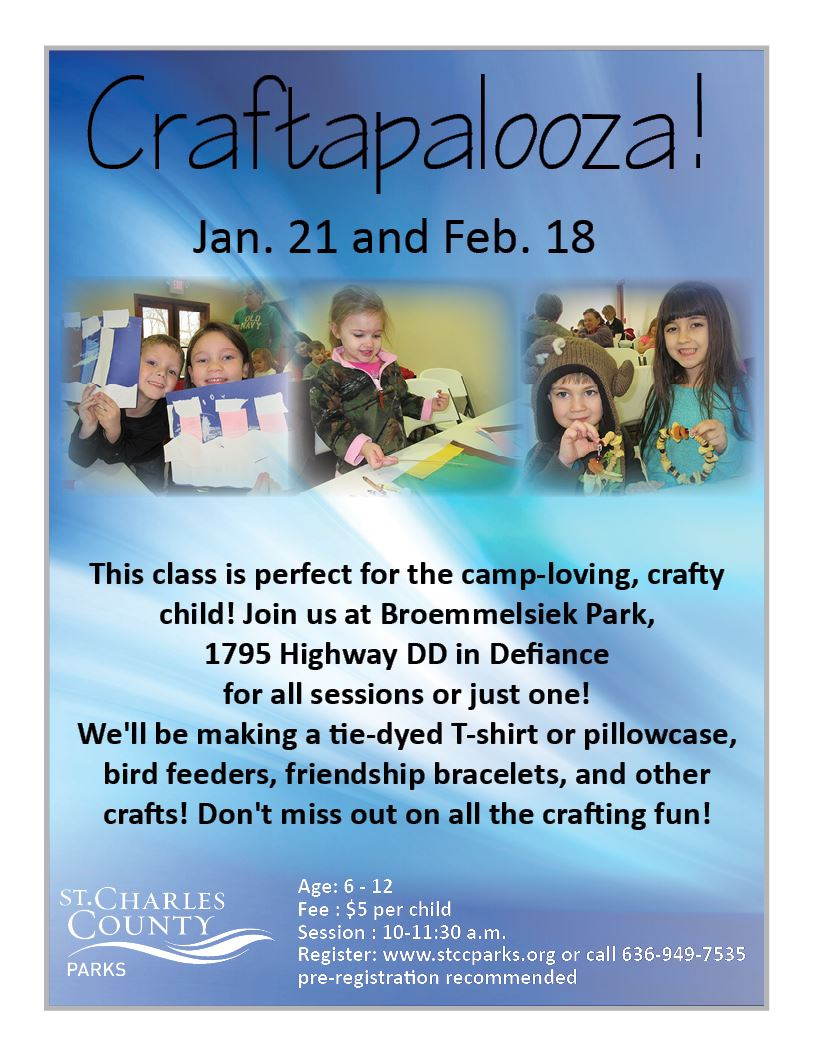 Craftapalooza flyer