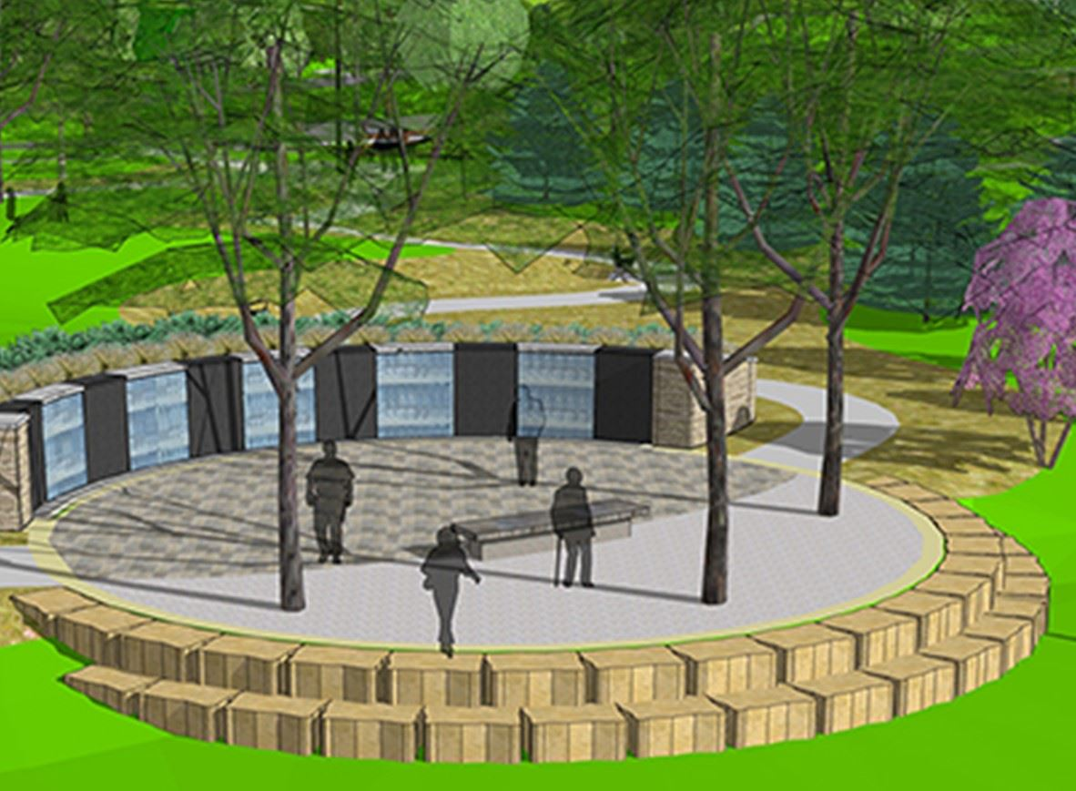Veterans Tribute Park Memorial Rendering