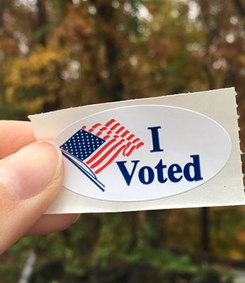 I Voted Election Sticker