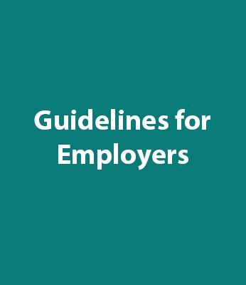 Guidelines For Employers Graphic