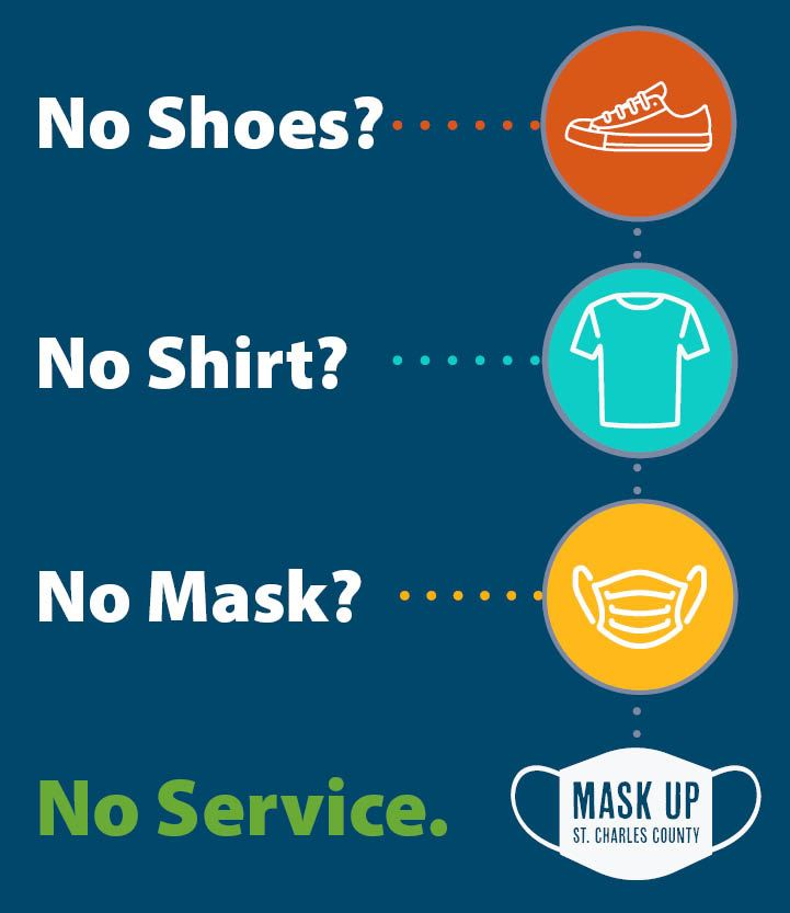 No shoes, no shirt, no mask, no service poster image
