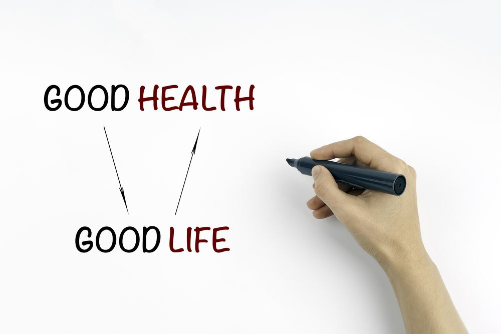 Graphic good health equals good life
