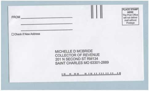 A letter addressed to the collector of revenue