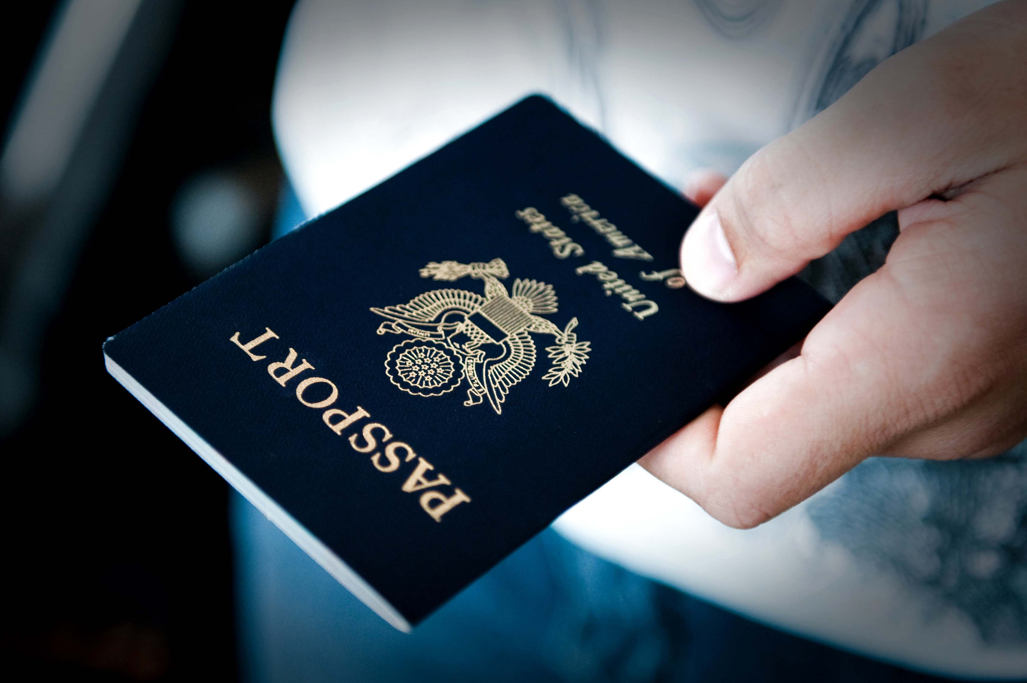 photo of a U.S. passport cover
