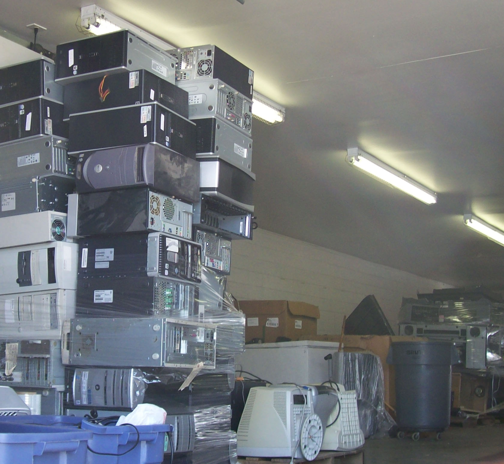 Electronic Recycling includes appliance, computers, TVs, and most other items with a cord.